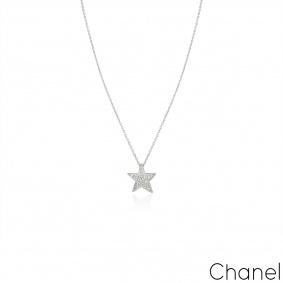 Chanel White Gold Comète Géode Diamond Necklace J0869